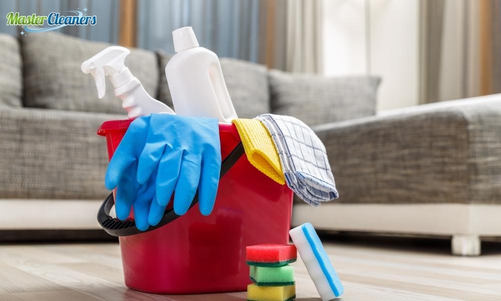How do you clean a dirty bathroom floor?