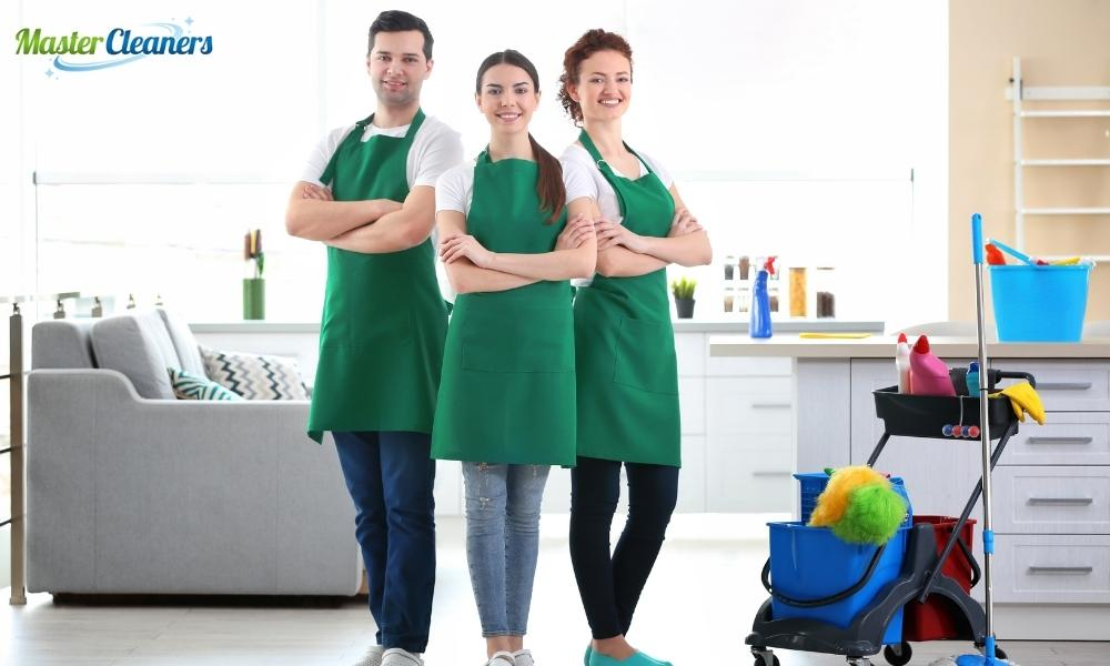What is the first thing you should do when cleaning a house?