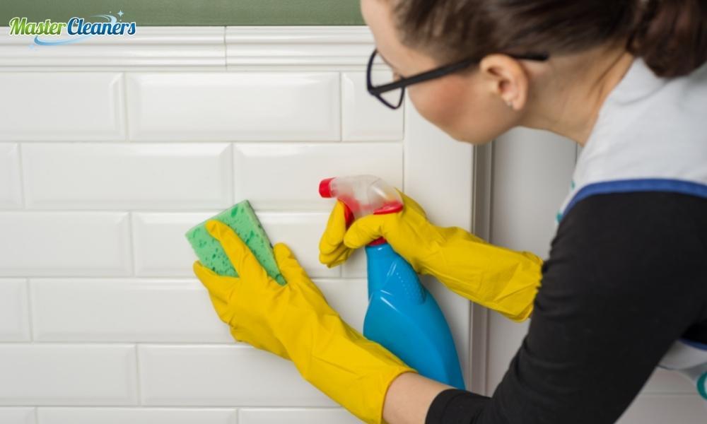 How do I clean a dirty bathroom floor?